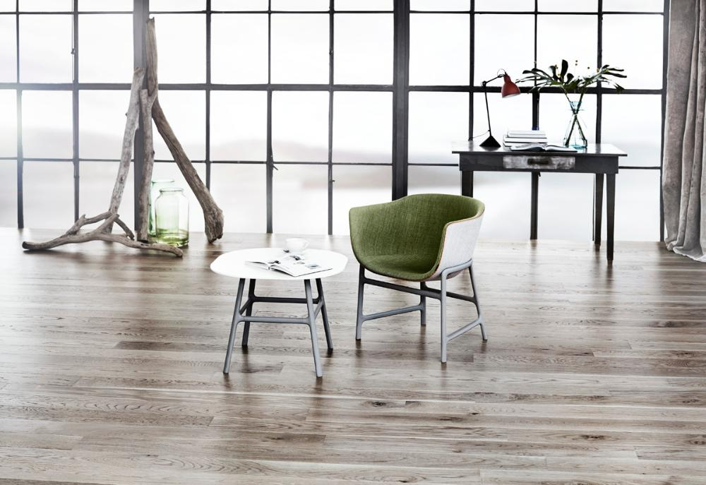 Roble, Driftwood Grey - Tarima en una tabla